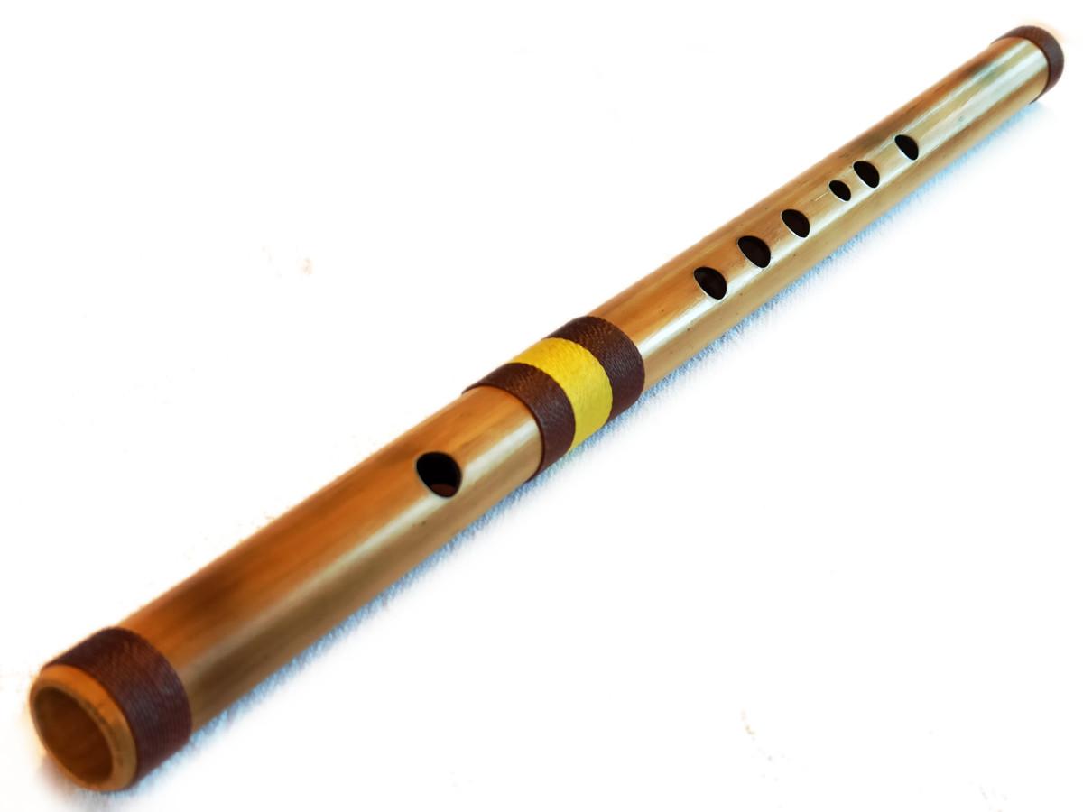 Flauta transversal - Fife en bambú natural 1